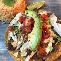 Tequila Lime Chicken Tostadas