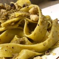 [Vegetarian-ish] Pesto Pappardelle Pasta